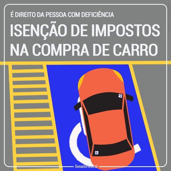 Como ocorre a isenção de impostos para deficientes na compra do carro